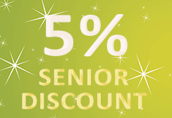 5 percent senior discount